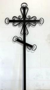 Крест металлический №8