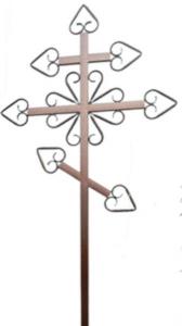 Крест металлический №14