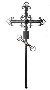 Крест металлический Орнамент6