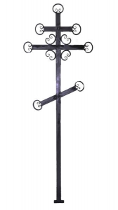 Крест металлический Кольца