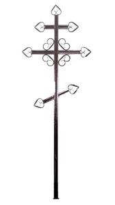 Крест металлический Пики